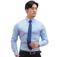 Autumn Winter New Men Shirts Long Sleeves Cotton Shirt Smart Casual Shirts Turn Down Collar Men