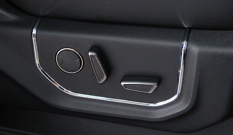 For Ford F150 F 150 2015 2019 ABS Car Accessories Seat Adjustable Buttons Cover Trim 2 PCS