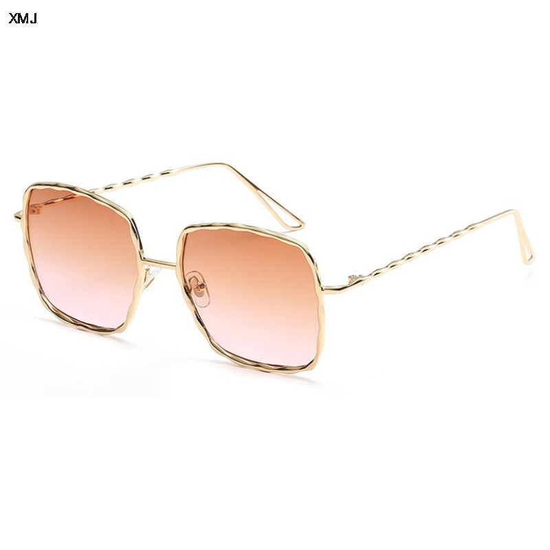2019 Eegant Square Sunglasses Shades Brand Designer Spiral pattern Men Women Metal Sun glasses Mirror gafas vintage UV400 in Women 39 s Sunglasses from Apparel Accessories