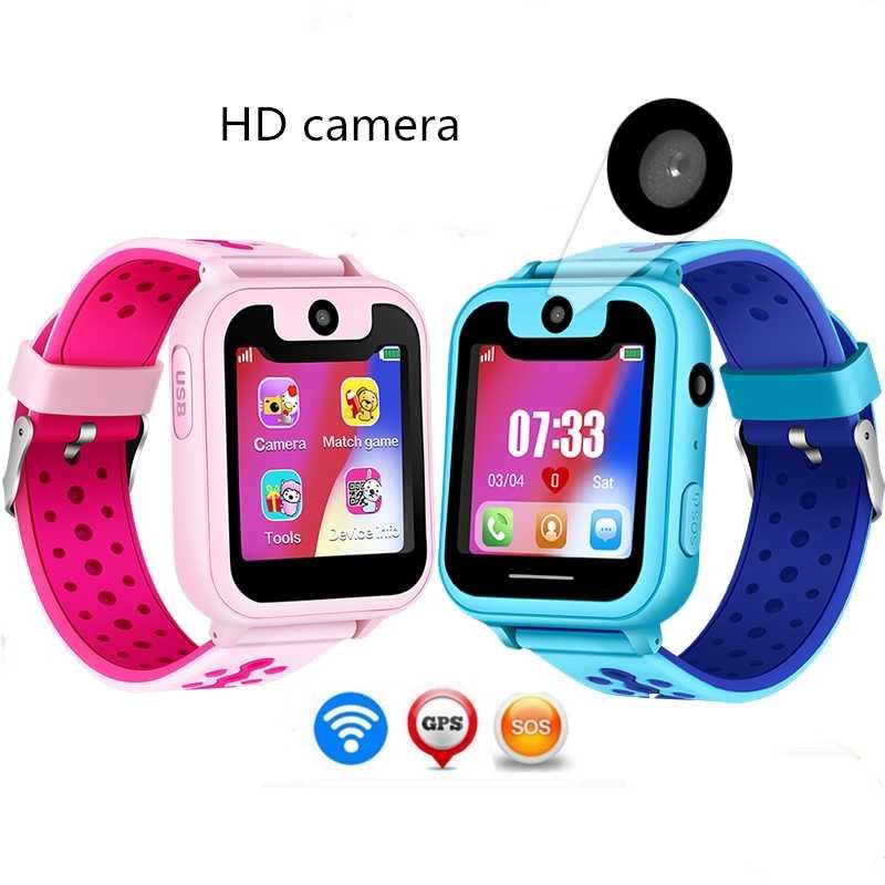 """Детские часы с GPS часы с трекером 2018 новый HD 1,54 """"Сенсорный экран камера SOS перезвонить сим-карты для определения местоположения устройства дети умные часы S6"""