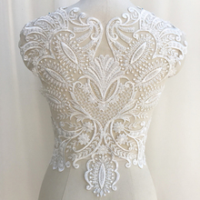 1 Piece Venise Lace Accessories Collar Embroidery Neck Neckline Beaded Trim Supplies Fabric Dress Applique Crafts