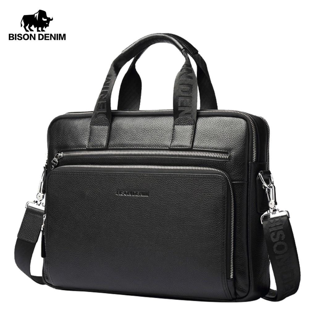 Men/'s Leather Briefcase Messenger Shoulder Crossbody Business Satchel Laptop Bag