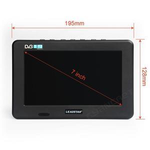Image 4 - LEADSTAR D7 تلفزيون محمول DVB T2 ATSC ISDB T tdt 7 بوصة الرقمية التناظرية سيارة صغيرة صغيرة التلفزيون التلفزيون دعم USB TF MP4 H.265 AC3