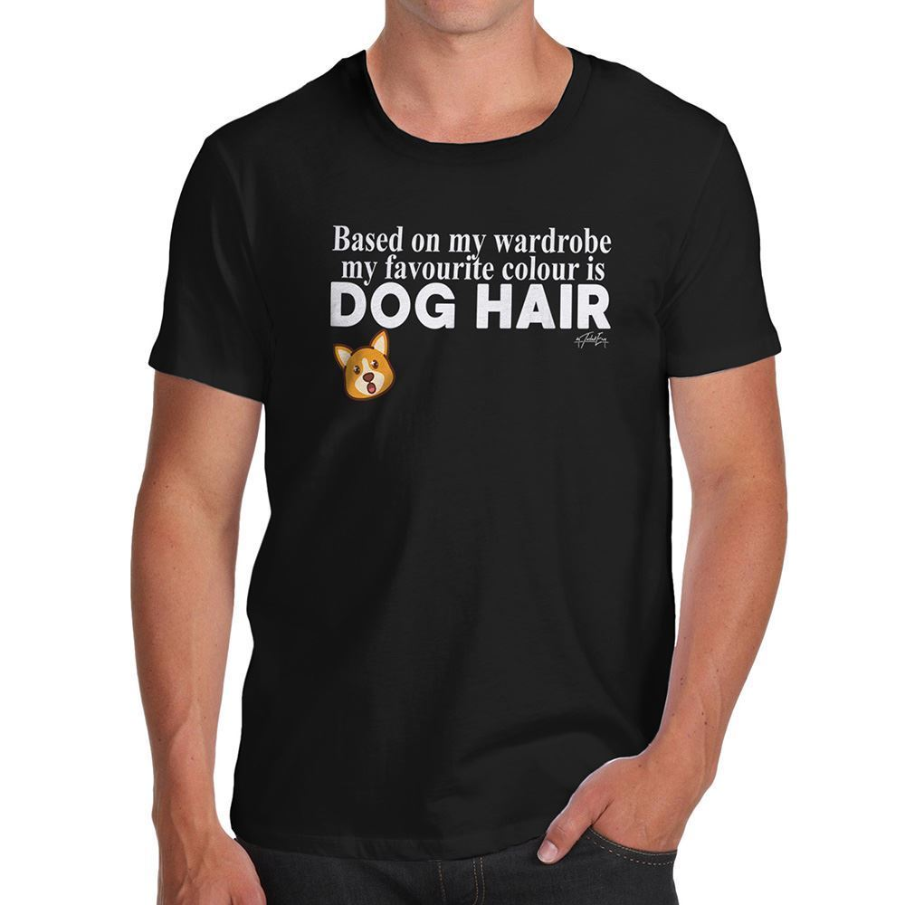 Funny T Shirts For Men My Favourite Colour Is Dog Print Men T Shirt Summer