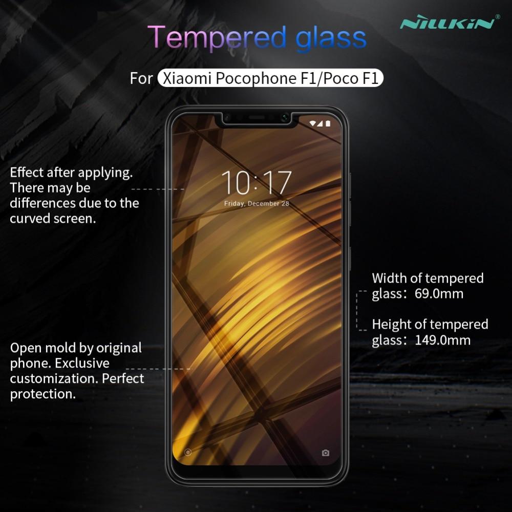 för Xiaomi Pocophone Poco F1 härdat glas skärmskydd Nillkin 9H - Reservdelar och tillbehör för mobiltelefoner - Foto 6