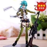 Hot Sale Game Anime Sword Art Online Asada shino Sinon Phantom Bullet Cool With Rifle 20CM Action Figure Toys