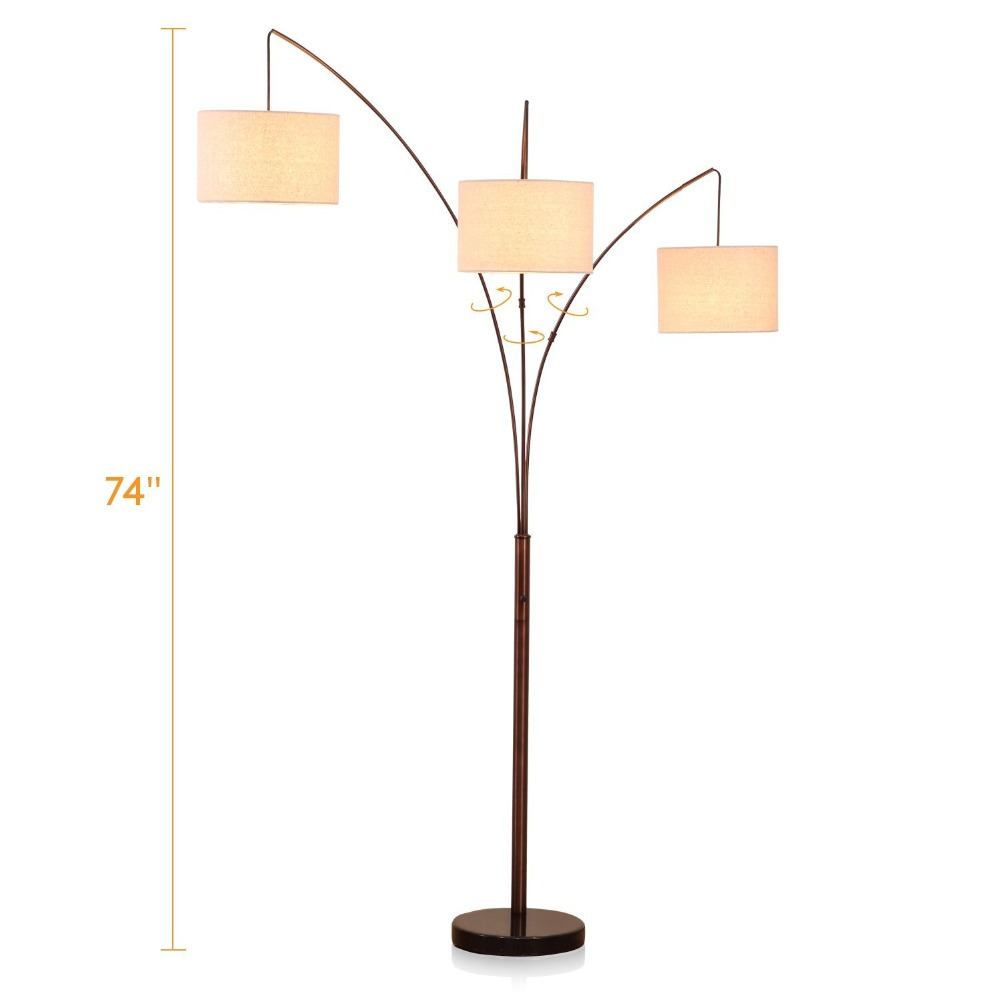 Modern Led Arc Floor Lamp With Marble Base Great For