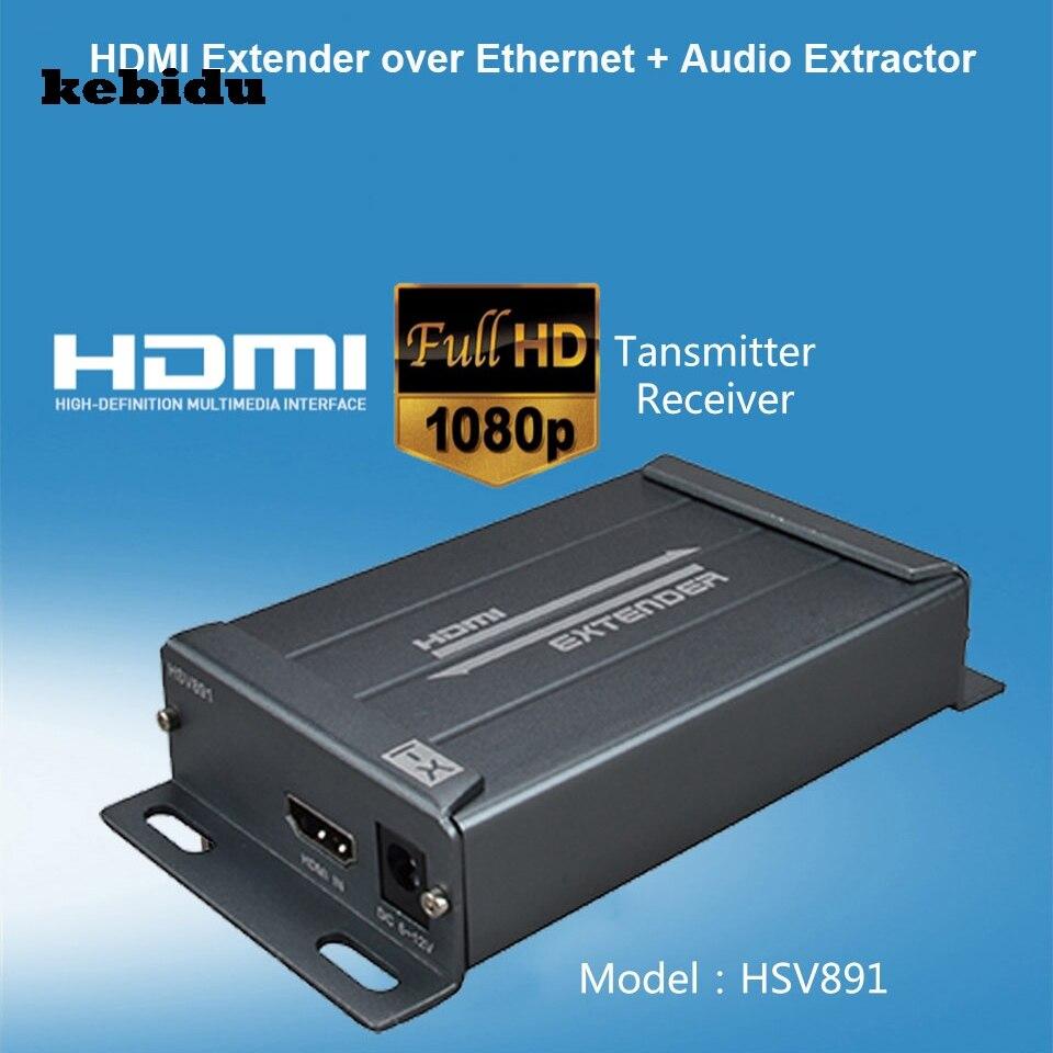 kebidu 150M 1080P HDMI Extender Over IP Transmitter TX RX with CAT5e ...