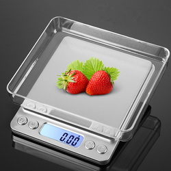2018 Upgrated USB powered kitchen scale 500g 0.01g Stainless Steel Precision Jewelry Weighing balance Electronic Food Scale