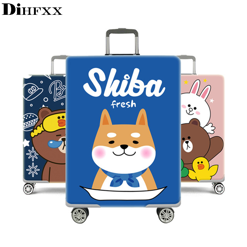 Cartoon Case Cover Thick Elastic Luggage Protective Cover Zipper Suit For 18 30 inch Trunk Case Travel Suitcase Covers Bags|Travel Accessories| |  - title=