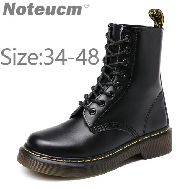 552b7caba 2019 moda masculina inverno Couro Genuíno real sapato Tornozelo botas de  pele de neve dr martens
