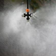 Подвесная противокапельная запотевающая насадка Крестовая Распылительная насадка туман распылитель воды для теплицы капельного орошения 1 комплект