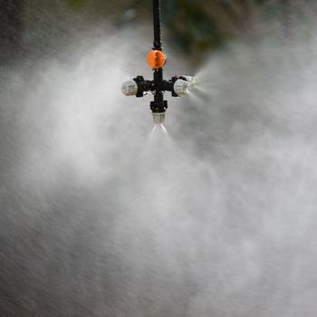 Wisząca dysza zamgławiająca kroplówka krzyżowa dysza rozpylająca mgła woda SPRAY do szklarni zestaw do nawadniania kropelkowego 1 tanie i dobre opinie Opryskiwacze WXRWXY Z tworzywa sztucznego hanging Pompy Cross fog nozzle see picture 1 4 Greenhouse garden plant Atomization humidification