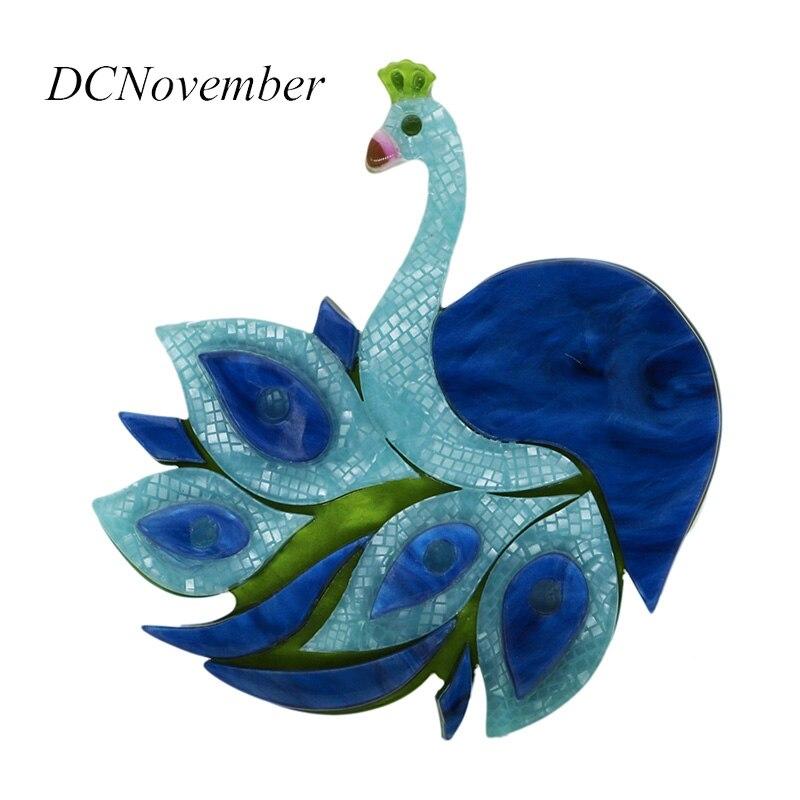 лучшая цена DCNovember Vintage Peacock Brooches Fiber Brooch Pins Jewelry Women Dress Accessory