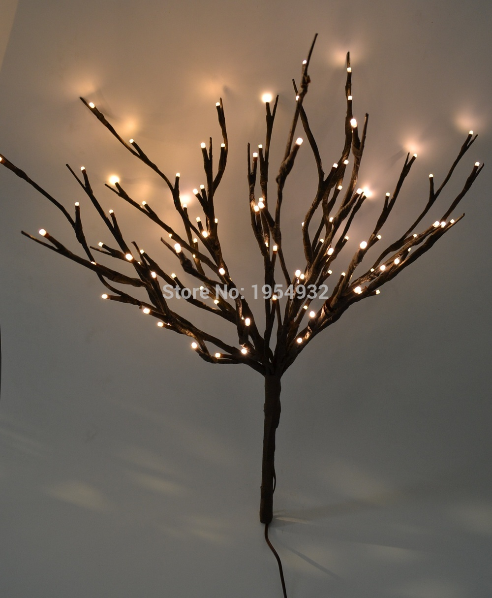 Led Lighted Twig Branches 100 Pre Light Branch Artificial Tree Willow Lamp For Home Holiday Party Decoration In Dried