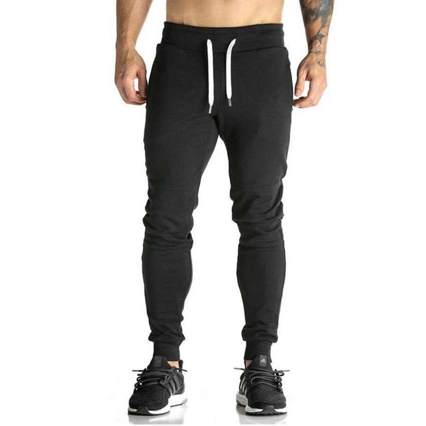 2018 High Quality Joggers Pants Men Bodybuilding Gyms Sweatpants For Runners Brand Mens Clothing Autumn Sweat Trousers Britches