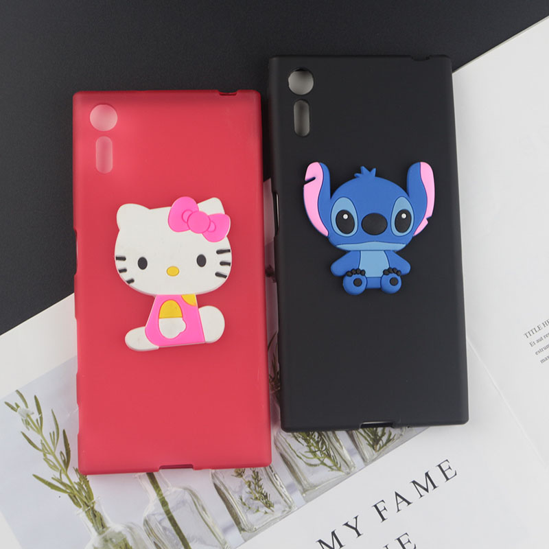 Soft TPU Case for Sony Xperia XZ Cases Stitch Kitty Minnie Flower Tiger Bee Pearl Diamond Coffee Milk Phone Cover