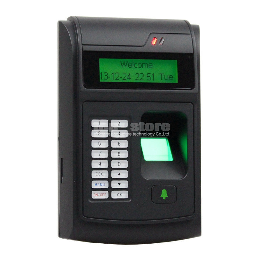 DIYSECUR LCD Biometric Fingerprint PIN Code Door Lock Access Control + 125KHz RFID ID Card Reader Keypad USB / Door Bell Button fs28 biometric fingerprint access control machine electric reader scanner sensor code system for door lock