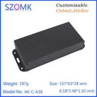 1 piece, 28*157*63mm extrusion aluminum enclosure box for electronic control customized audio amplifier aluminum housing case