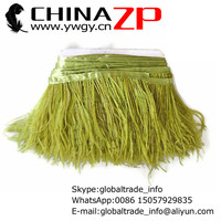 Exporting from CHINAZP Factory 10yards/lot Cheap Wholesale Dyed Olive Ostrich Feathers Trim Fringe