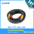BNC cable 30M Power video Plug and Play Cable for CCTV camera DVR video system