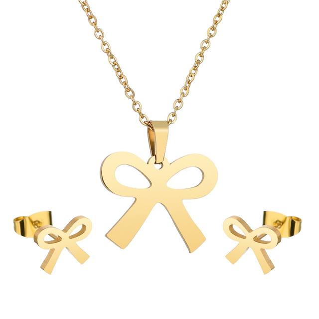 Charms Jewelry Set Bow...