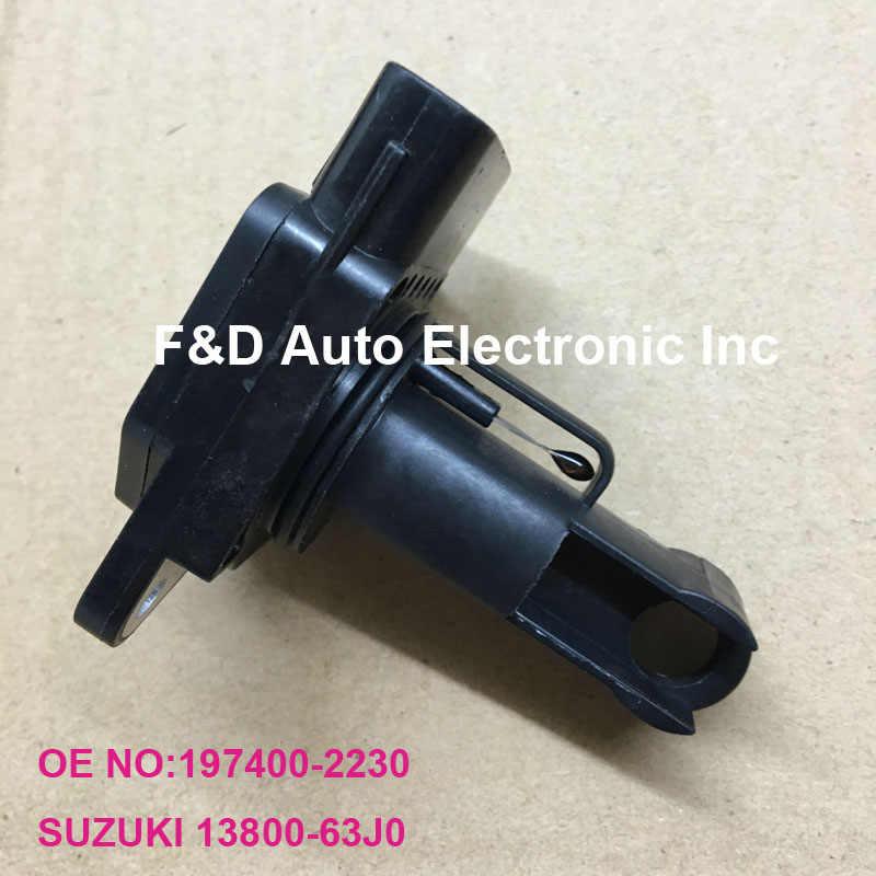 Original Chip New Mass Air Flow SensorMeter MAF Sensor 197400-2230  1974002230 63J0 13800-63J0 For SUZUKI GRAND VITARA II JT 2,0