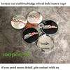 100pcs/lot 53mm 60mm Car Wheels hub Caps SSR Logo Badge Emblem for chevrolet lanos orlando captiva lacetti label Auto covers