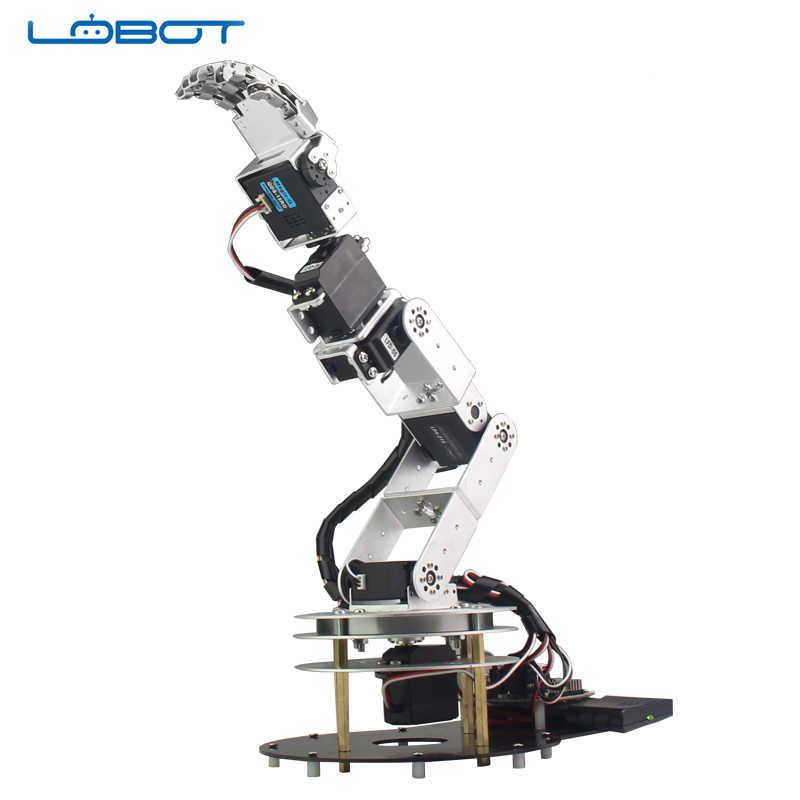 6 DOF робот Arduino Servo Танцы рука комплект гуманоид удаленного Управление образования RC Запчасти робот