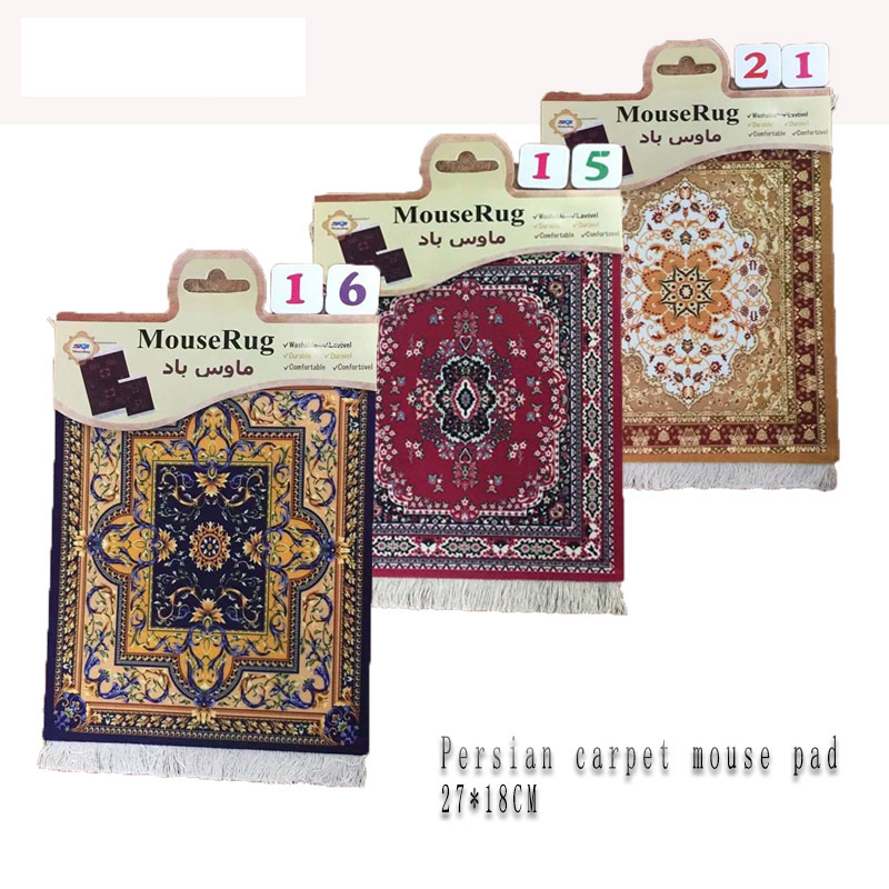Hot Sale 270X180MM Color Persian Carpet Mouse Pad Tea Cup Mat Table Mat Family Decoration Gift 11 Styles leory new vintage persian 18x23cm cup persian rug mat mouse pad carpet gift mousepad office tool for computer gaming bohemia