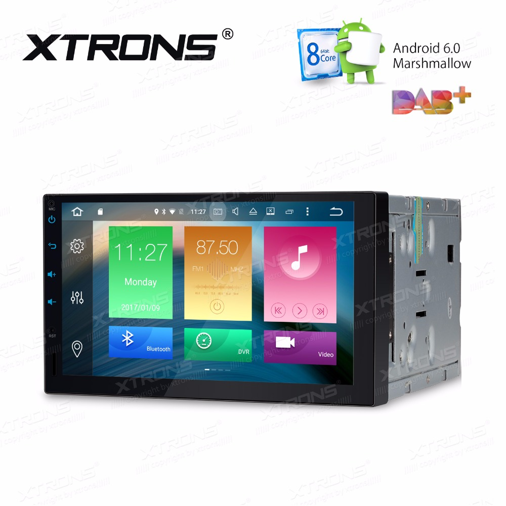 """Prix pour XTRONS 2 Din 7 """"HD Android 6.0 Huit 8 Octa Core Universel voiture Radio Stéréo Lecteur DVD GPS Naviguer OBD TPMS DAB + Directeur roue"""