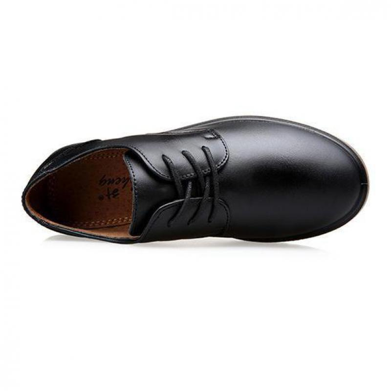 Boys Leather Shoes for Children Black
