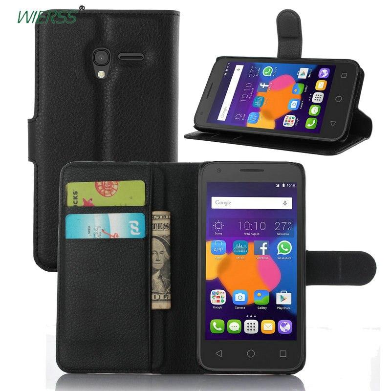 Portefeuille Flip Étui En Cuir Pour Alcatel One Touch Pop 3 5 5.0/5015 5015D 5016 5016A 5.0 pouce En Cuir Couverture arrière téléphone cas + Stand