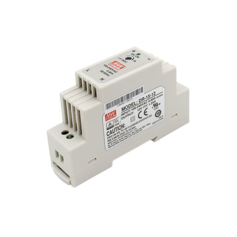 DR-15 15W Single Output <font><b>5V</b></font> 12V 15V 24V Din Rail Switching <font><b>Power</b></font> <font><b>Supply</b></font> image