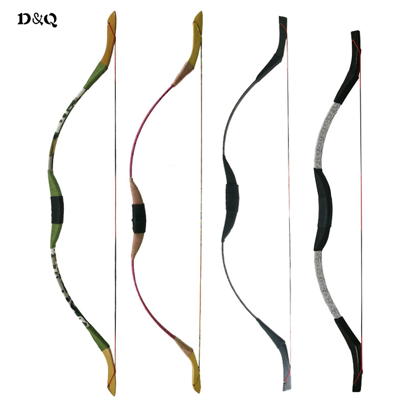 4 színek Hagyományos íjászat visszahúzás íj ifjúsági gyerekek hölgy szabadtéri vadászat longbows Cél lövés Sport játékok Slingshot