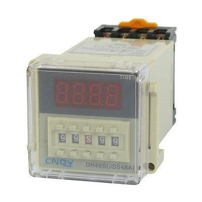 DH48S-1Z Power on Time Delay Relay 8-Pin SPST 0.01S-99H99M AC/DC36V w Socket
