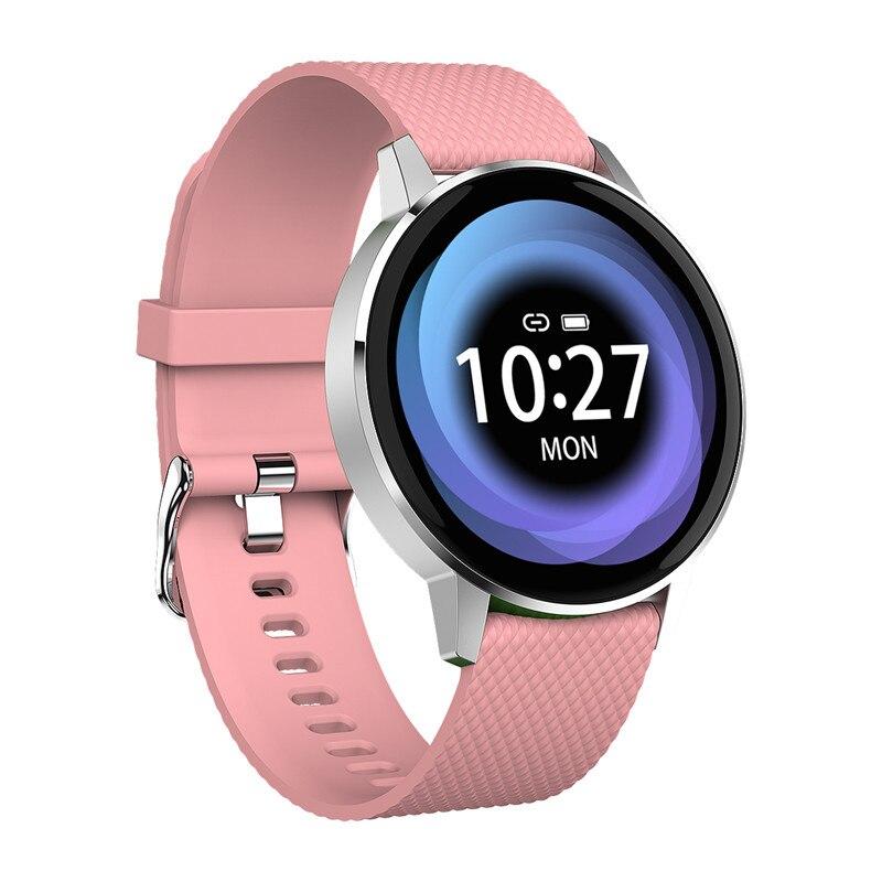 T4 Smart Watch Women Pink Bluetooth Tempered Glass Fitness Bracelet IP68 Waterproof Heart Rate Monitor Sport Smartwatch Men
