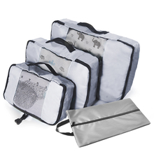 Packing Cubes System 3 Pieces Sets Travel Luggage Packing Organizers(Grey)(Red)(Green)(Violet) Overnight Bag Duffle Bags
