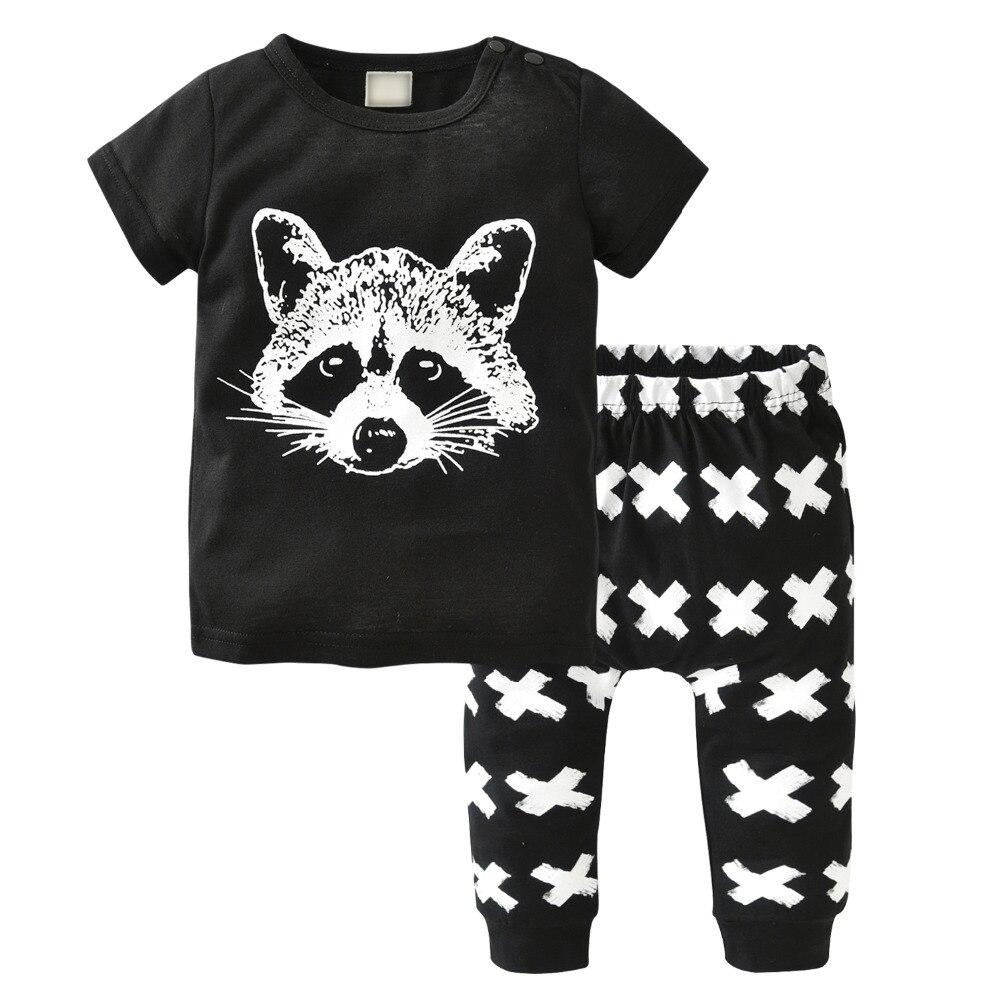 100% QualitäT Baby Jungen Mädchen Kleidung Set Sommer Baumwolle Kurze-ärmeln Fuchs Avatar T-shirt + Hosen Infant 2 Stücke Neugeborenen Kleinkind Kleidung Wir Haben Lob Von Kunden Gewonnen