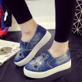 New fashion women casual shoes flat with deinm canvas shoes female students lazy shoes of star pattern feminina tide DT575