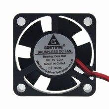 1PCS 3D Printer Fan 3010 5V Ball Bearing 2 Pin 30mm 30x30x10mm Small Micro DC Brushless Cooling Cooler 1pcs gdstime dc mini cooling cooler fan ball 5v 2p 30mm 3010 30x30x10mm 14000rpm