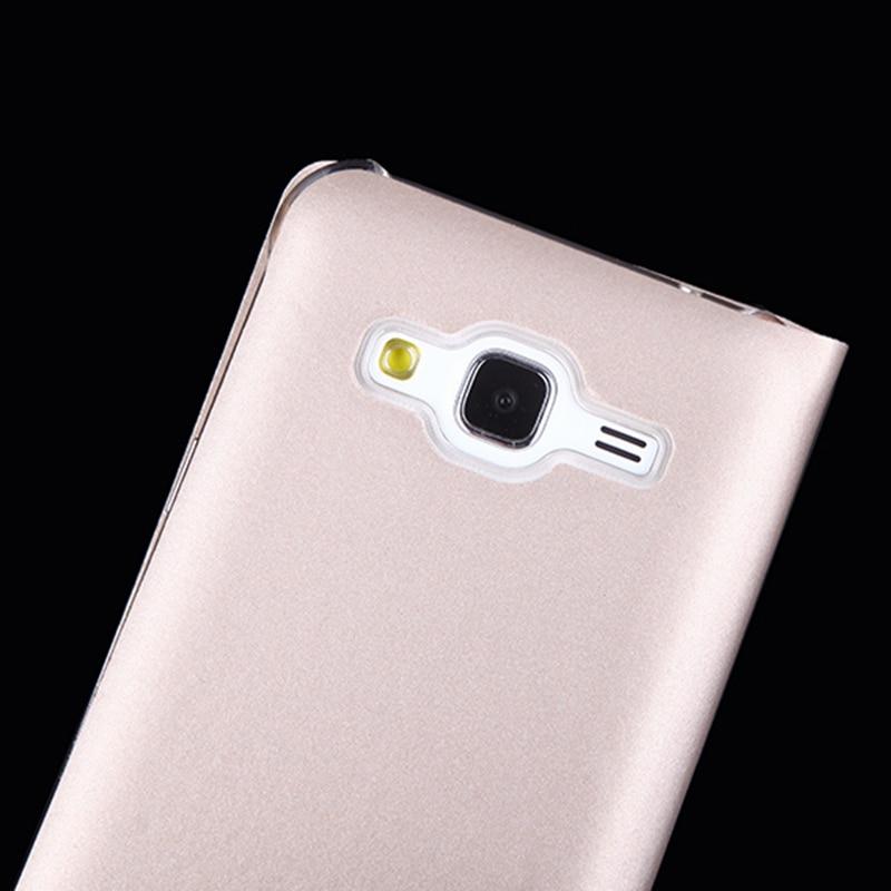 Samsung Galaxy J3 2016 J320 J320F J320H J300 Üçün İncə Dəri - Cib telefonu aksesuarları və hissələri - Fotoqrafiya 5