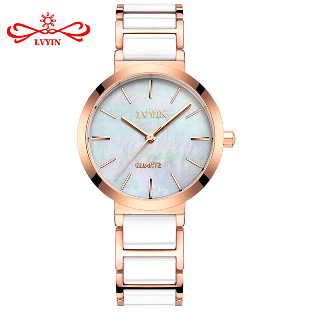 LVYIN Fashion Ladies Bracelet Watches Shell Casual Colorful Watch Chassis Women