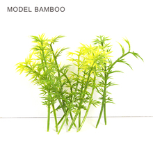 ARCHITECTURAL MODEL MAKING Miniature scale model bamboo 8cm green for trains layout