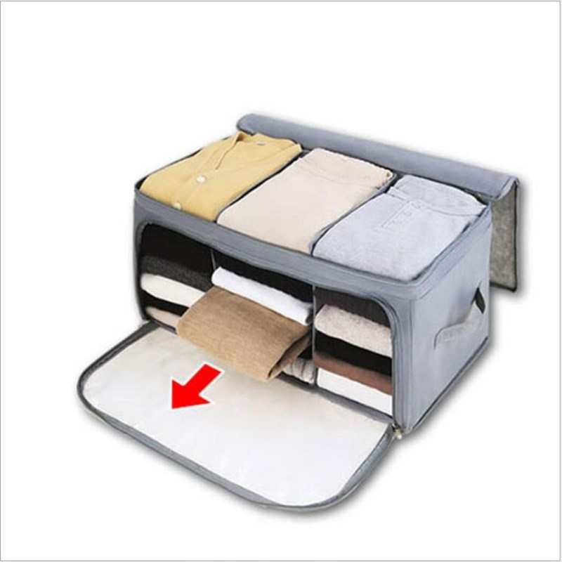 Multi Compartment Clothes Finishing Boxes Double Open Foldable Travel  Clothes Sock Storage Box Underwear Tie Storage Organizer