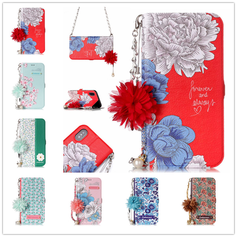 Blue rose Flower language Leather Flip Wallet Case For Samsung Note8 S7 S8 Case For Samsung S7 Edge S8 Plus with Card Holder