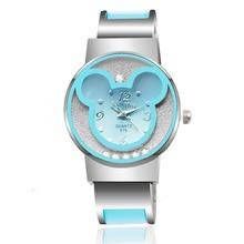 Luxury Crystal 2018 Women Dress Watch Women's Cute Mickey Bracelet Watches Ladies Stainless Steel Watches Clock relogio feminino