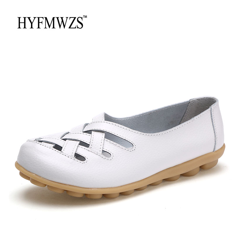 HYFMWZS Plus Size 34-44 Women Loafers High Quality Cheap Flat Shoes Women Cow Leather Oxford Shoes Ballet Slip-On Zapatos Mujer sorbern khkai flat shoes women round toe custom plus size 34 46 zapatos mujer flat heels ballet flats slip on shoes for women