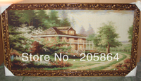 Free Shipping Middle Size Scenery Wall Tapestry Villa Beautiful Beside The Road Classical Design