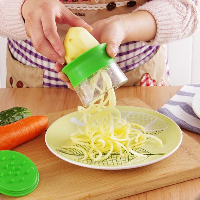 Vegetable Spiralizer HandHeld Spiral Grater useful gadgets